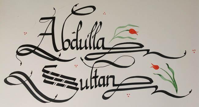 Calligraphy alphabet typeset lettering hand drawn alphabet